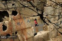جاری شدن سیل در غزه