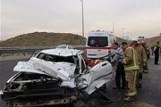 تصادف مرگبار تریلی با پراید در محور بافق-زرند