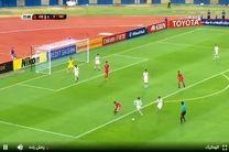 نتیجه بازی تیم ملی فوتبال امید ایران و ازبکستان در نیمه نخست