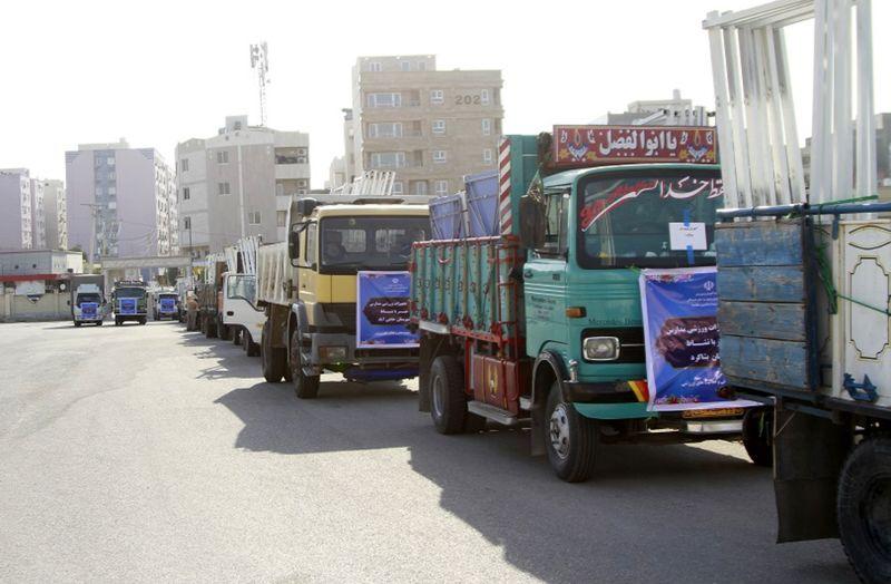 """اولین کاروان تجهیزات ورزشی مدارس"""" مهر با نشاط """" راهی مناطق هرمزگان شد"""