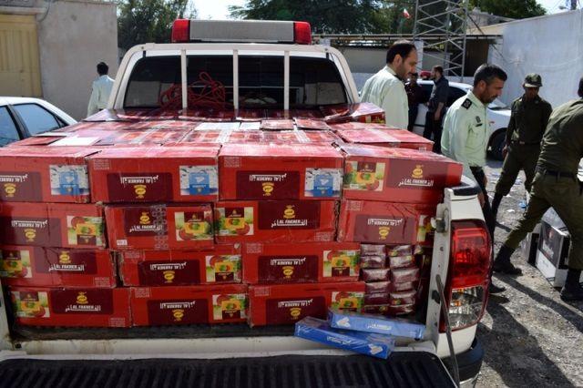 توقیف محموله کالای دخانی قاچاق در پارسیان