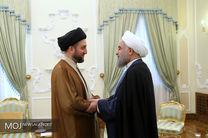 دیدار سید عمار حکیم با حسن روحانی
