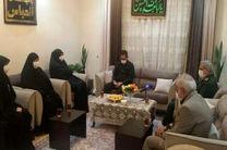 فرمانده نیروی قدس سپاه با خانواده شهید پورجعفری دیدار کرد