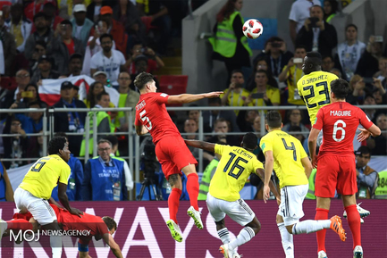 جام جهانی فوتبال - دیدار تیم های انگلیس و کلمبیا