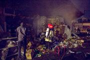 آتش سوزی بازار بزرگ مصلای مشهد مهار شد