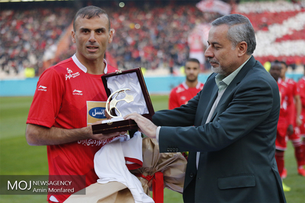 دیدار تیم های فوتبال پرسپولیس و ذوب آهن اصفهان