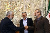 دیدار لاریجانی با دبیر کل جنبش جهاد اسلامی فلسطین