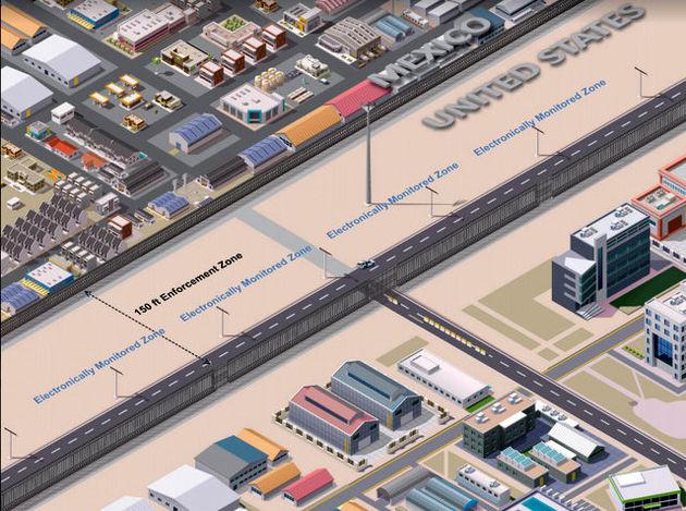 دولت آمریکا ساخت نمونه اولیه دیوار مرزی مکزیک را سفارش داد
