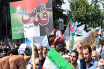 حضور همراه با حاشیه علی مطهری در راهپیمایی روز قدس
