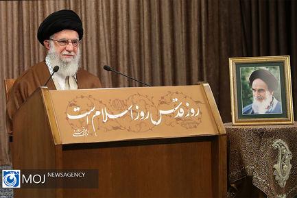 سخنرانی مقام معظم رهبری به مناسبت روز جهانی قدس