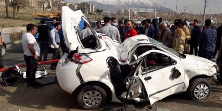 تصادف زنجیرهای ۱۱ دستگاه خودرو در بزرگراه پردیس