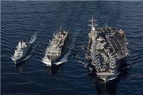 ورود یک ناو هواپیمابر آمریکایی به خلیجفارس
