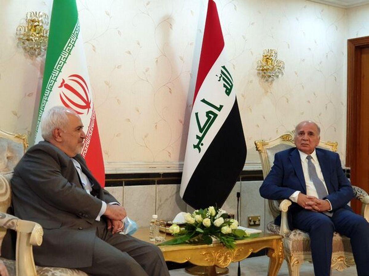 دیدار و رایزنی ظریف با همتای عراقی خود