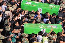پیکر پنج شهید مدافع حرم در تهران تشییع شد