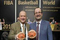 پیام تبریک رئیس و دبیرکل فدراسیون جهانی بسکتبال به رامین طباطبایی