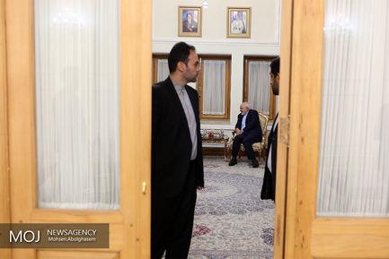 دیدار حامد کرزای رییس جمهوری سابق افغانستان با ظریف