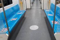 مترو تهران به منظور رعایت فاصله اجتماعی علامت گذاری شد