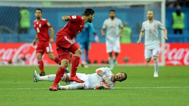 تساوی بدون گل ایران و اسپانیا در نیمه نخست