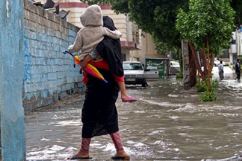 بارش باران در نیمه غربی هرمزگان و جزایر خلیج فارس