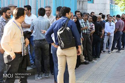 ساعات اولیه انتخابات در حسینیه ارشاد