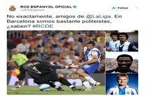 توئیت جنجالی سازمان لیگ اسپانیا، بر دشمنی اسپانیول و بارسلونا دامن زد! + تصاویر