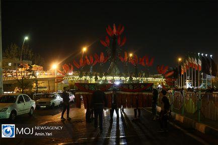 عزاداری شب هشتم ماه محرم در محله نظام آباد