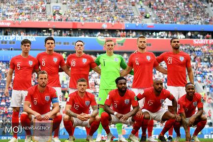 جام جهانی فوتبال - دیدار تیم های انگلیس و بلژیک