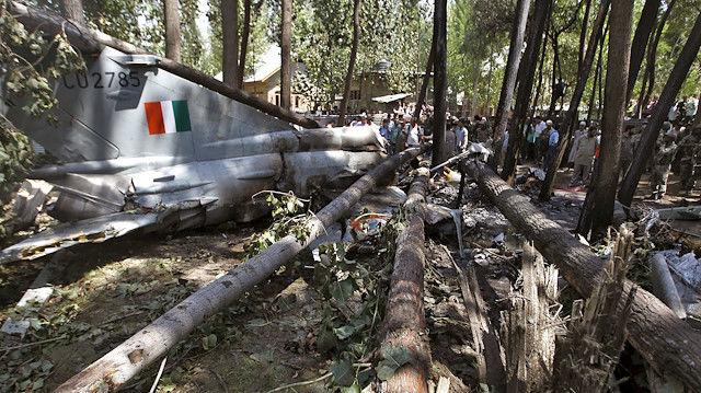 سقوط جنگنده هندی در ایالت راجستان