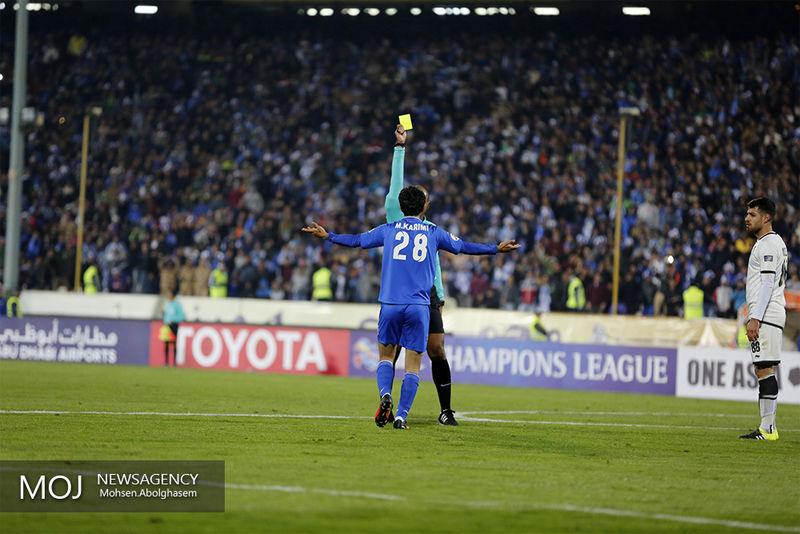 تذکر AFC به بازیکن استقلال