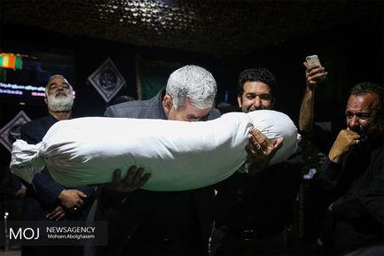 وداع با پیکر شهید فرمانعلی قربانی پس از ۳۶ سال