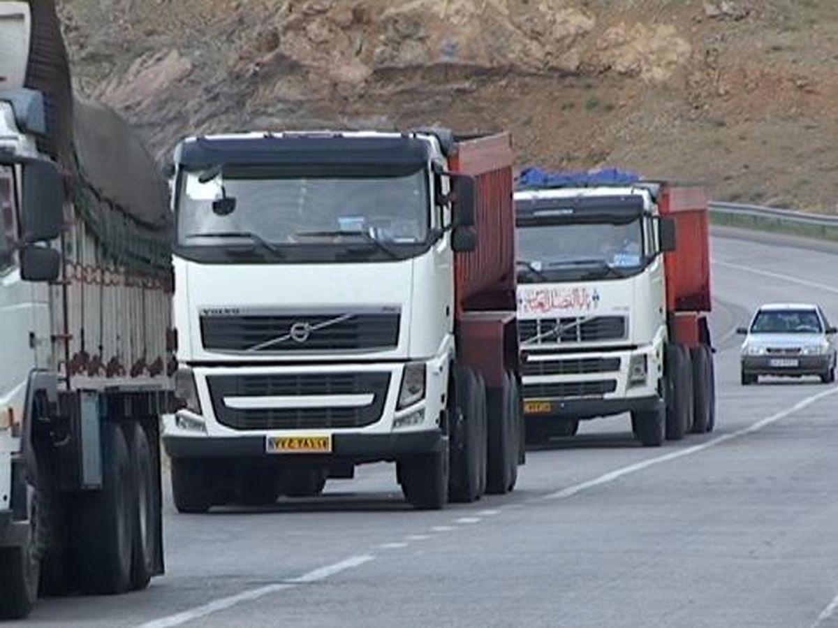 محدودیت تردد خودروهای سنگین در جاده هراز