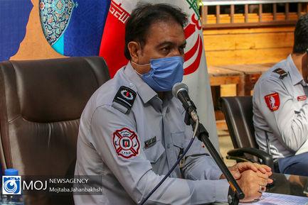 نشست خبری مدیر عامل سازمان اتش نشانی شهرداری اصفهان