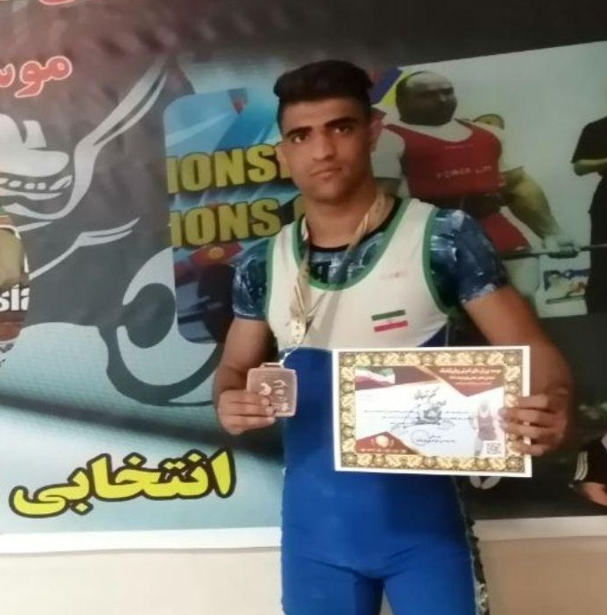 نماینده کرمانشاه مقام سوم مسابقات ددلیفت کشور را کسب کرد