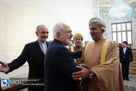 دیدار علی بن مسعود السنیدی وزیر تجارت و صنعت عمان با ظریف