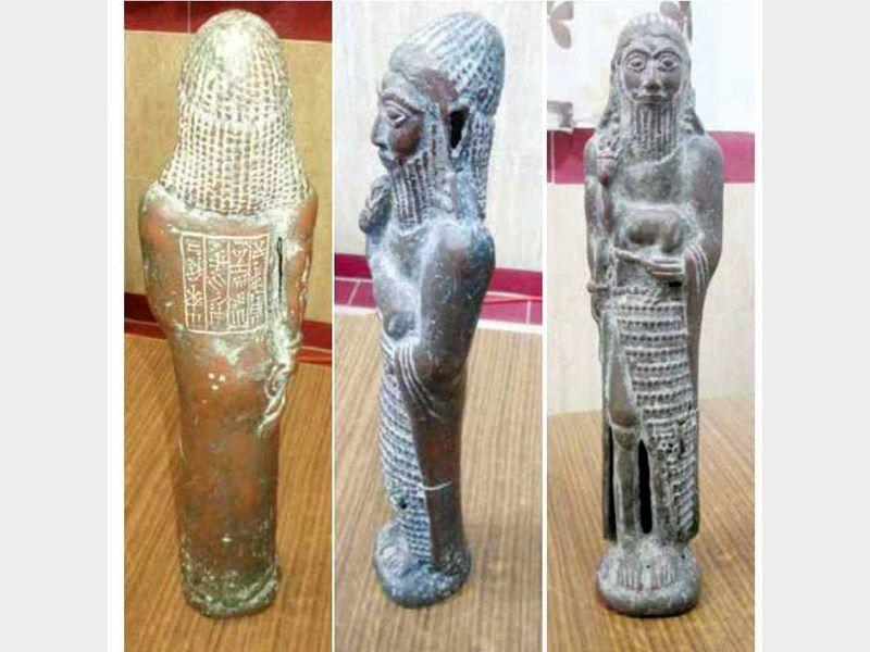 کشف 7 مجسمه عتیقه مربوط به دوره هخامنشی در رودان