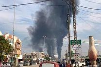 انفجار یک خط لوله نفتی در شمال لبنان