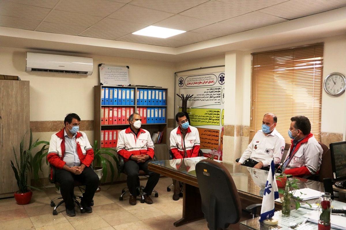 دیدار مدیرعامل جمعیت هلال احمر یزد با رئیس اورژانس استان