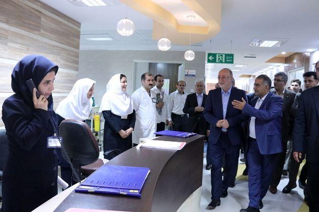 بازدید از طرح ارتقای هتلینگ بیمارستان رسول اکرم (ص) رشت