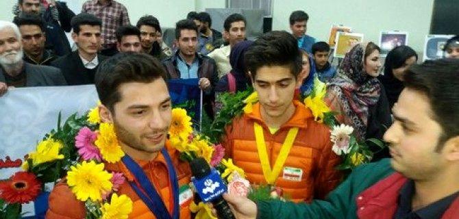 یخنوردان مسابقات جام جهانی  وارد اصفهان شدند