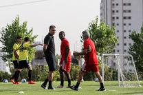 صف آرایی ملی پوشان در رقابت های انتخابی جام جهانی فوتبال برابر چین