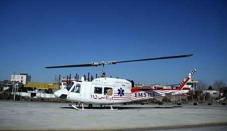 نجات جان دو بیمار در مناطق سخت گذر لرستان با اورژانس هوایی
