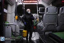 عملیات شست و شوی اتوبوس ها در ابتدا و انتهای خطوط