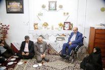 دیدار استاندار قم و مدیران استان با خانواده شهدای روستایی
