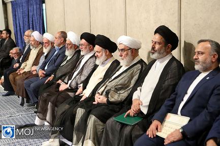 دیدار دستاندرکاران و کارگزاران حج با مقام معظم رهبری