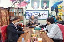 بازدید رئیس روابط عمومی  کمیته امداد امام خمینی (ره) استان قم از دفتر خبرگزاری موج
