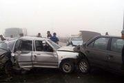 مصدومیت 11 نفر در تصادف زنجیرهای در محور شهرکرد