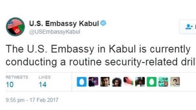 سفارت آمریکا:  انفجار تروریستی نبود تمرین می کردیم