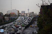 بروز ترافیک سنگین در پی بارش باران در پایتخت