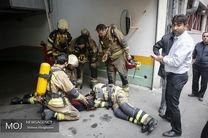 خروج آتش نشانان از ساختمان برق وزارت نیرو/احتمال ریزش قوت گرفت
