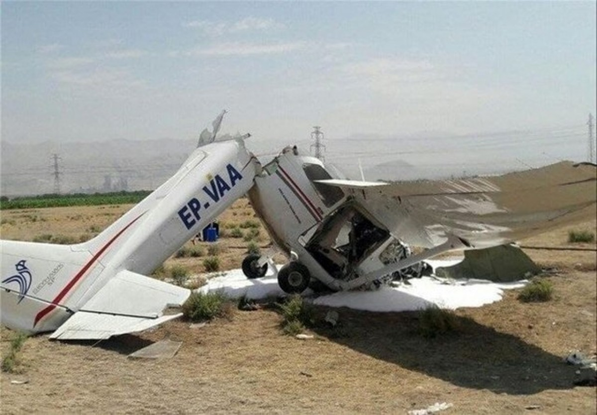 سقوط یک فروند هواپیمای دو نفره در شرق تهران